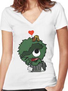 Oscar LOVE Women's Fitted V-Neck T-Shirt