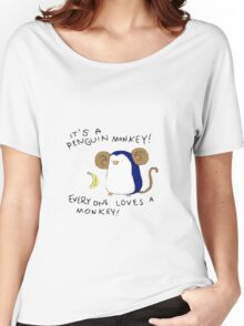 Penguin Monkey Women's Relaxed Fit T-Shirt