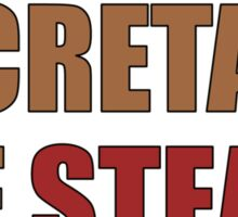 Secretary of Steak Sticker