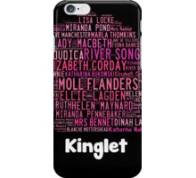 Kinglet with Kingston sihloutte in black iPhone Case/Skin