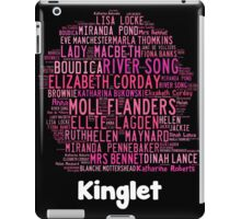 Kinglet with Kingston sihloutte in black iPad Case/Skin