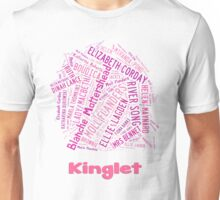 Kinglet with Kingston sihloutte in white Unisex T-Shirt