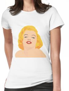 marylin monroe in color Womens Fitted T-Shirt