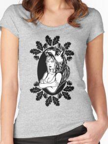 Sandy Cheeks is dead Women's Fitted Scoop T-Shirt