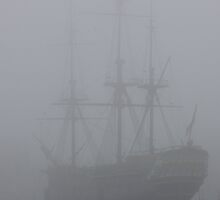 Amsterdam Ship in Mist by CreativeEm