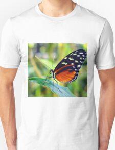 Macro Orange and Black Butterfly Unisex T-Shirt