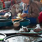 Fish sauce, Markets at Vientiane, Laos by Glen O'Malley
