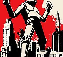 Art Deco- Giant Robot Attack by ori-STUDFARM