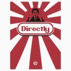 Satoru Iwata Nintendo Direct  - Red Sunburst Nintendo Logo   by EdUnderground
