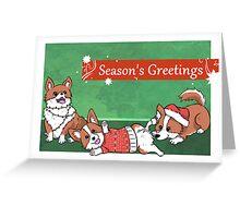 Seasonal Corgis Greeting Card