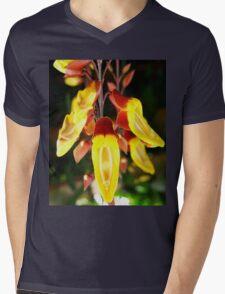 Tropical Yellow Hanging Flower Mens V-Neck T-Shirt
