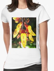 Tropical Yellow Hanging Flower Womens Fitted T-Shirt