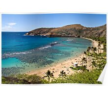 Beautiful Hanauma Bay, Hawaii Poster