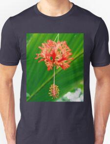 Red Hanging Flower Bloom Unisex T-Shirt