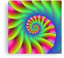 Psychedelic Spiral Steps Canvas Print