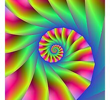 Psychedelic Spiral Steps Photographic Print