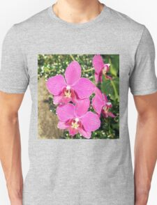 Pink Orchid Collage Unisex T-Shirt