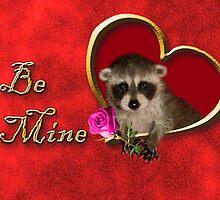 Be Mine Raccoon by jkartlife