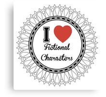 i heart fictional characters  Canvas Print