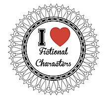 i heart fictional characters  Photographic Print