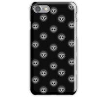 Alien Emoji Pattern 2/2 Dark iPhone Case/Skin