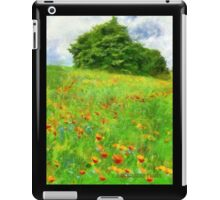 Hillside With Flowers And Trees iPad Case/Skin