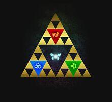 Legend of Zelda Triforce Navi Ocarina of Time Zipped Hoodie