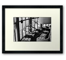 The restaurant at the top of the world Framed Print