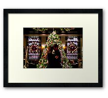 Caskett Christmas Framed Print