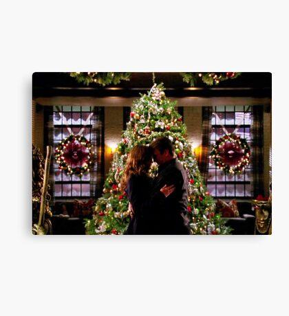 Caskett Christmas Canvas Print