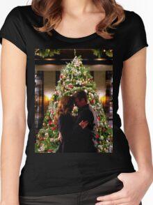 Caskett Christmas Women's Fitted Scoop T-Shirt