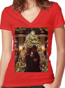 Caskett Christmas Women's Fitted V-Neck T-Shirt
