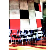 Chairs and Squares   Photographic Print