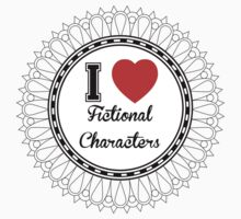i heart fictional characters  Kids Tee