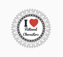 i heart fictional characters  Women's Fitted Scoop T-Shirt