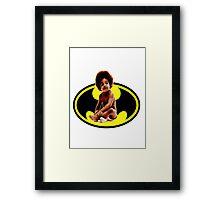 Lil BAT BIG Framed Print