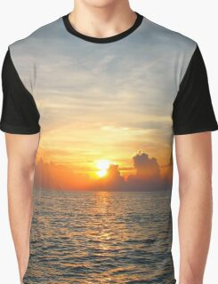 Caribbean Ocean Sunset Graphic T-Shirt