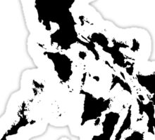 Philippines Map Black by AiReal Apparel Sticker