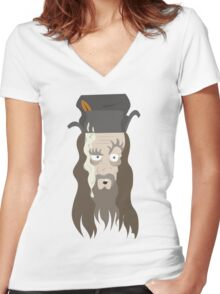 Radagast the Brown Women's Fitted V-Neck T-Shirt