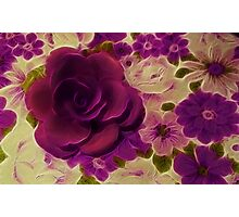 Vintage Purple Rose  Photographic Print