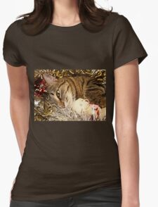 Lying cat Womens Fitted T-Shirt