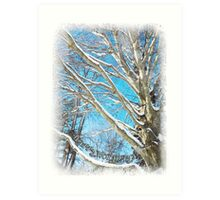 Snow Covered Holiday Art Print