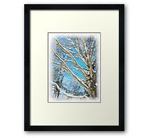 Snow Covered Holiday Framed Print