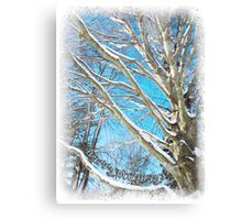 Snow Covered Holiday Canvas Print