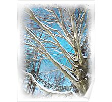 Snow Covered Holiday Poster