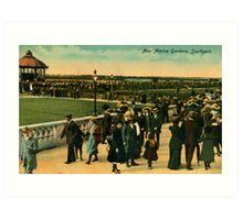 1890 New Marine Gardens Southport Merseyside Art Print