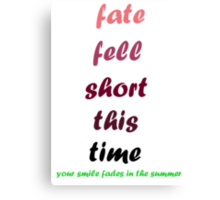 blink-182 - Fate Fell Short Canvas Print
