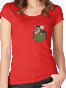 Pocket Who? Women's Fitted Scoop T-Shirt