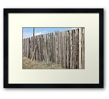 Old wooden fence Framed Print