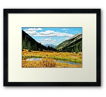 Autumn Lake in the Rockies Framed Print